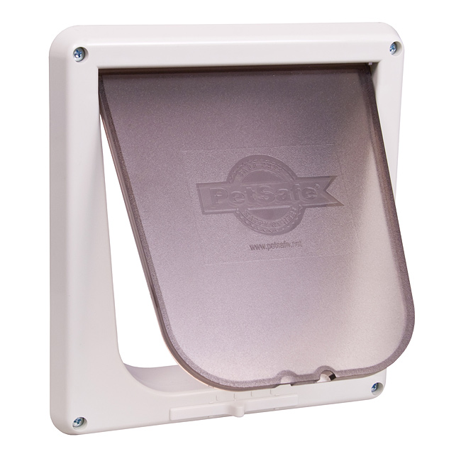 "Give your cat access to her litter box even with a closed door. This durable; transparent cat flap fits any interior door that is 1"" to 2"" (2.5 cm - 5 cm) thick. The 4-way locking system gives you ultimate control of the kind of access you want your cat to have.  WARNING: Small children can pass through door.  Read Entire Statement    Which door flap do I need?"