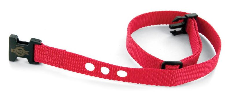 Replacement 3/4-inch collar strap with 3 holes for bark collars and in-ground fence receiver collars. Simply remove the receiver unit from your pet's old receiver collar and place it on the new collar strap.